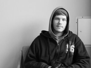 Steven, 25, has been homeless since August of 2014. In an accident, he lost his identification, making it especially difficult for him to get hired.
