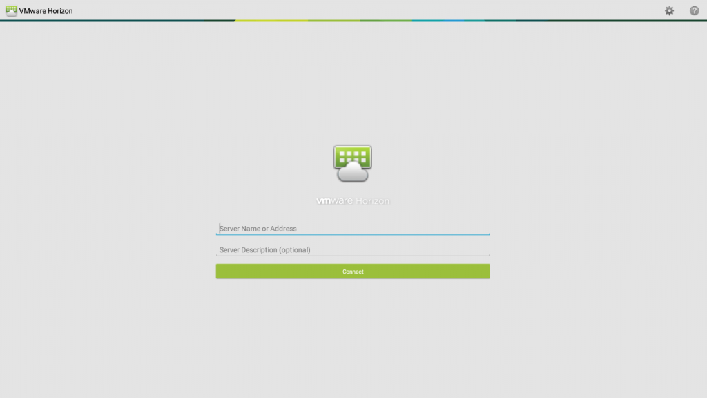 VMware Horizon screen
