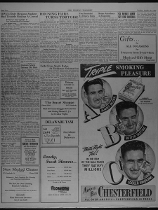 1946 Cigarette Ad Featuring Ted Williams