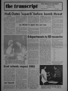 Hall and Oates Make the Front Page in a 1975 Issue of The Transcript