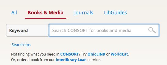 Books & Media Search Box